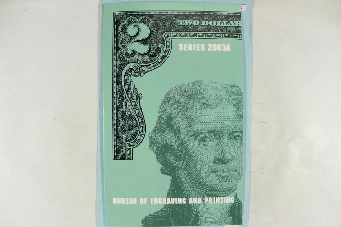 UNCUT SHEET OF 4-2003-A $2 FRN'S CRISP UNC - 3