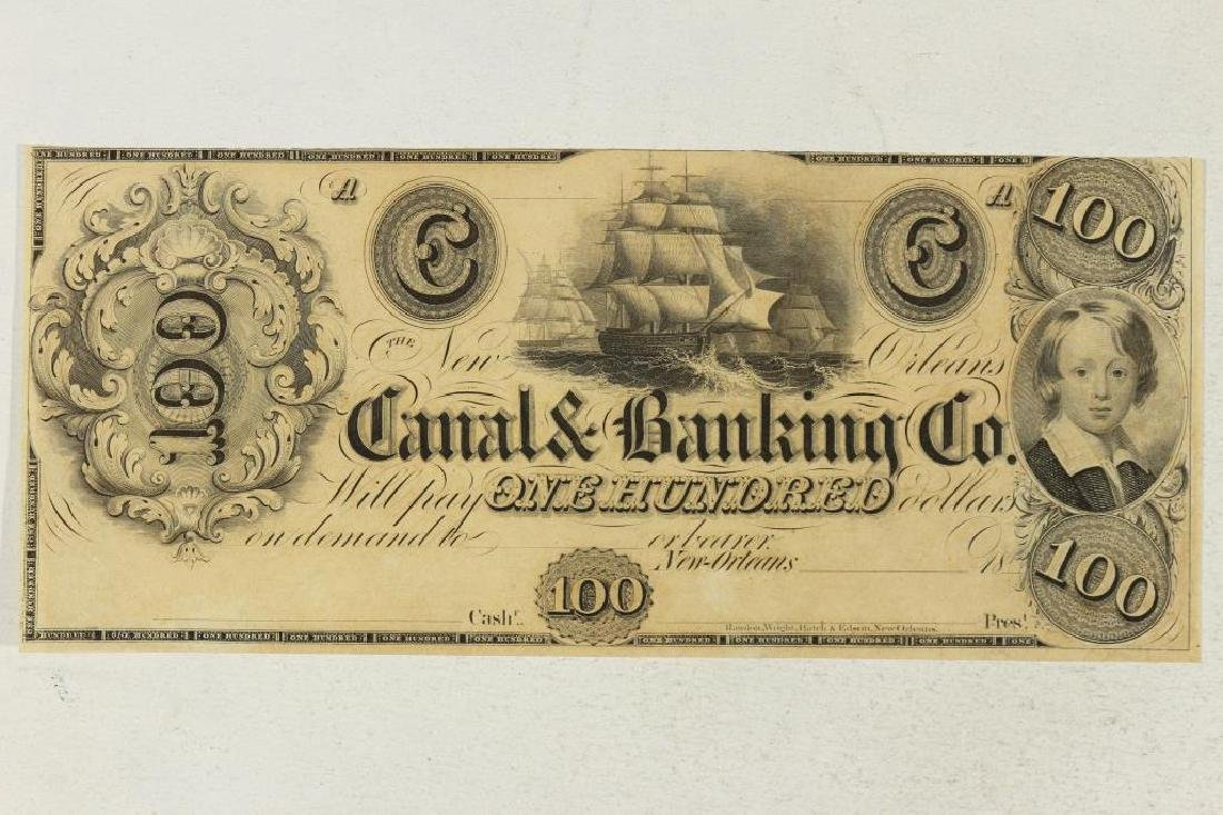 1800'S CANAL AND BANKING COMPANY NEW ORLEANS