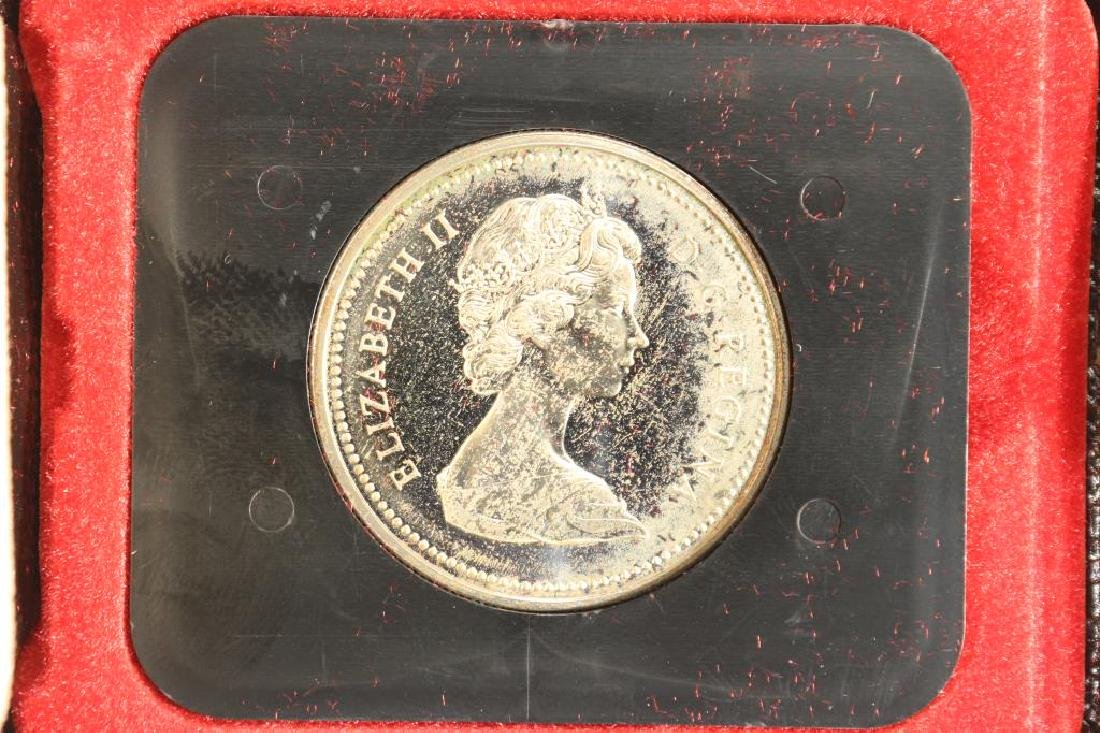 1971 CANADA BRITISH COLUMBIA SILVER DOLLAR TONED - 2
