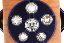 2003 AUSTRALIA FINE SILVER PROOF SET 6 COINS