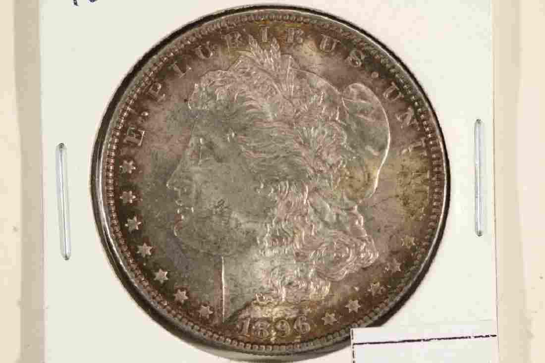 1896 MORGAN SILVER DOLLAR TONED UNC