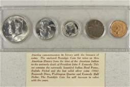 NOSTALGIC COIN SET CONTAINS: 90% SILVER 1964 JFK,