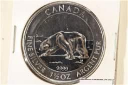 2013 CANADA SILVER 1 1/2 OZ. $8 POLAR BEAR (PFL)