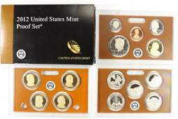 2012 US PROOF SET WITH BOX