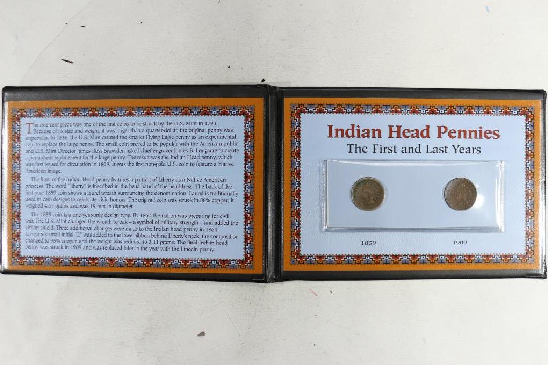 INDIAN HEAD PENNIES THE 1ST AND LAST YEARS SET