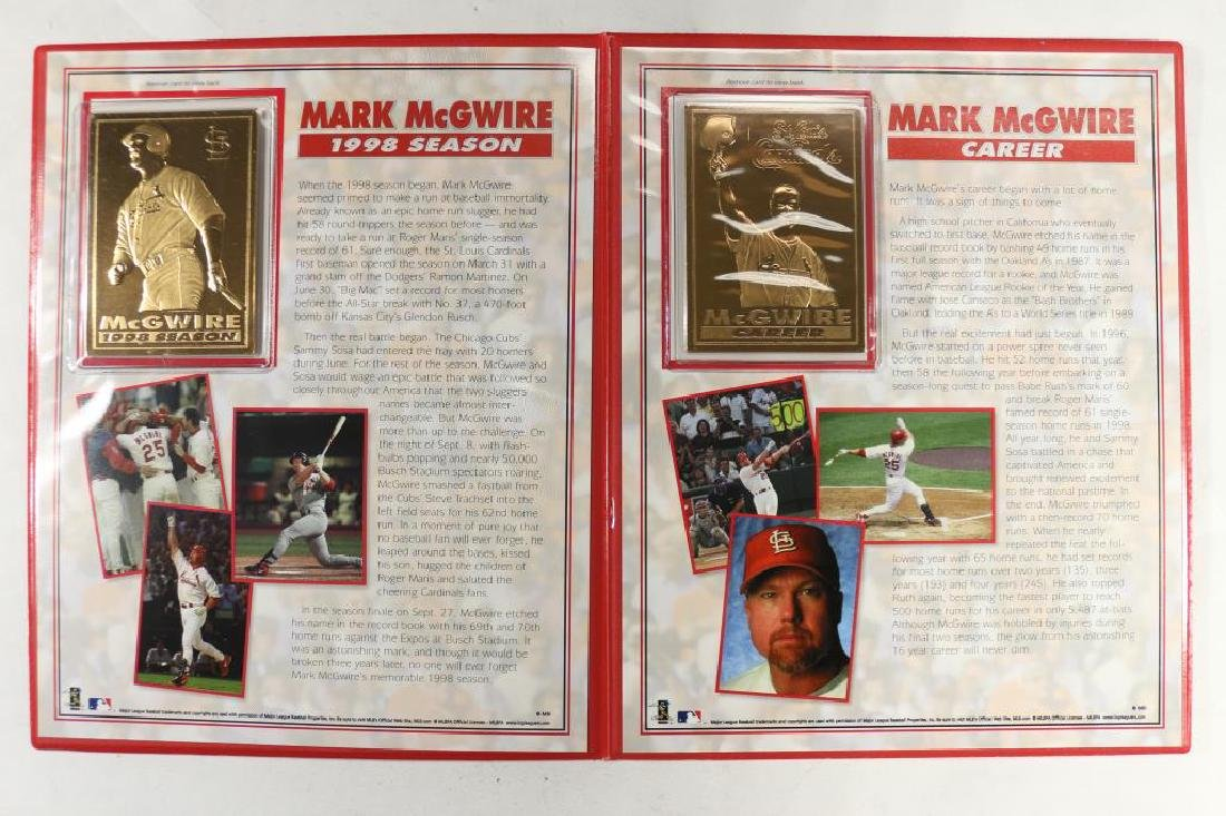 Mark Mcgwire 22kt Gold Cards Licensed By