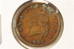 1863 CIVIL WAR TOKEN ARMY AND NAVY