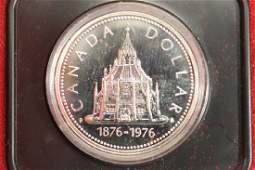 1976 CANADA PARLIAMENT LIBRARY SILVER DOLLAR