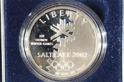2002 OLYMPIC WINTER GAMES SALT LAKE PROOF SILVER