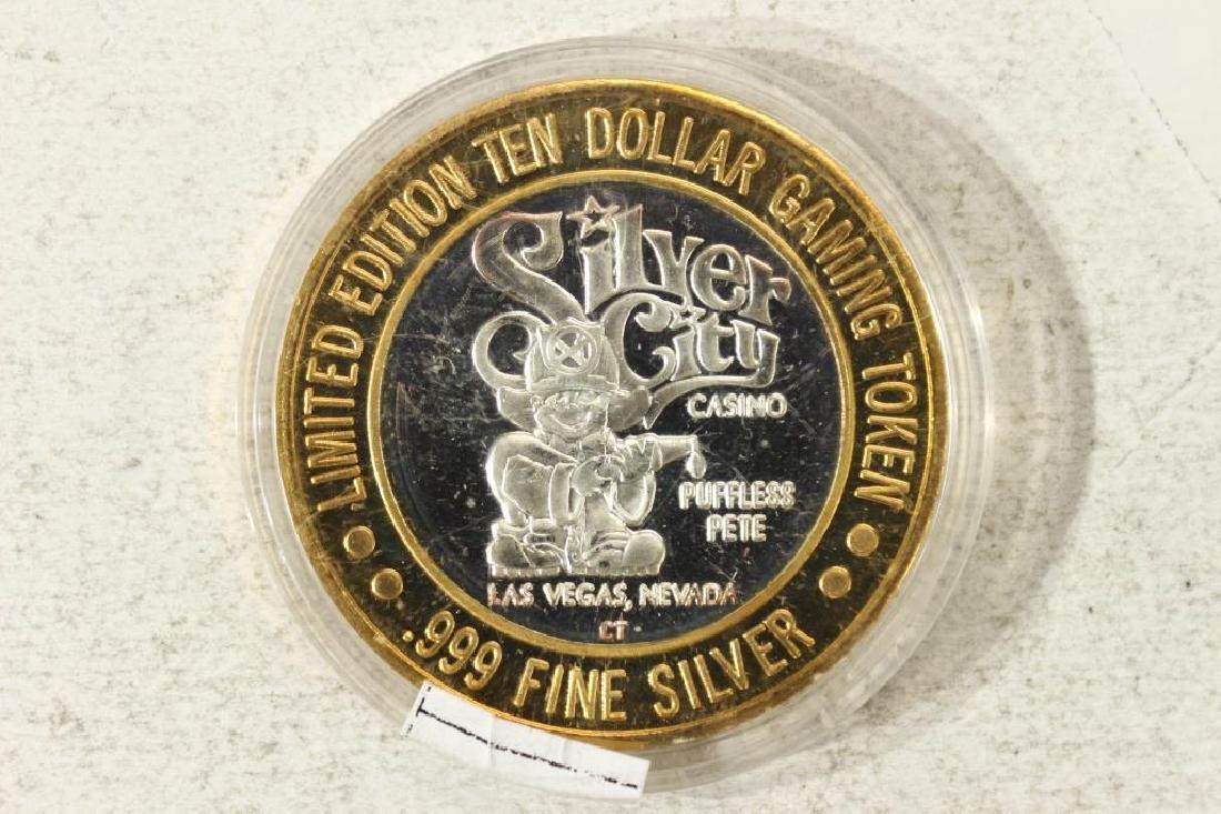 CASINO $10 SILVER TOKEN (UNC) SILVER CITY CASINO - 2