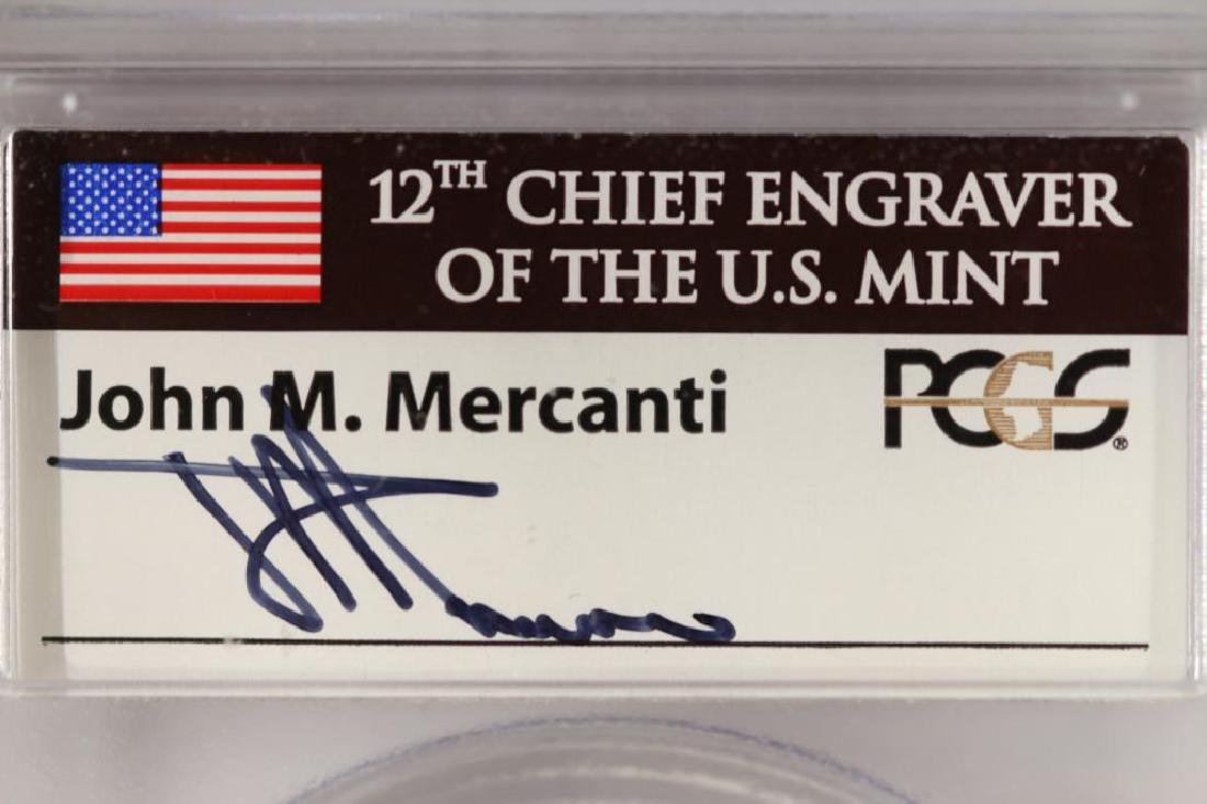 2013 AMERICAN SILVER EAGLE PCGS MS70 1ST STRIKE - 4