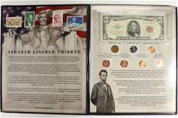 ABRAHAM LINCOLN TRIBUTE. CONTAINS: 1963 $5 US