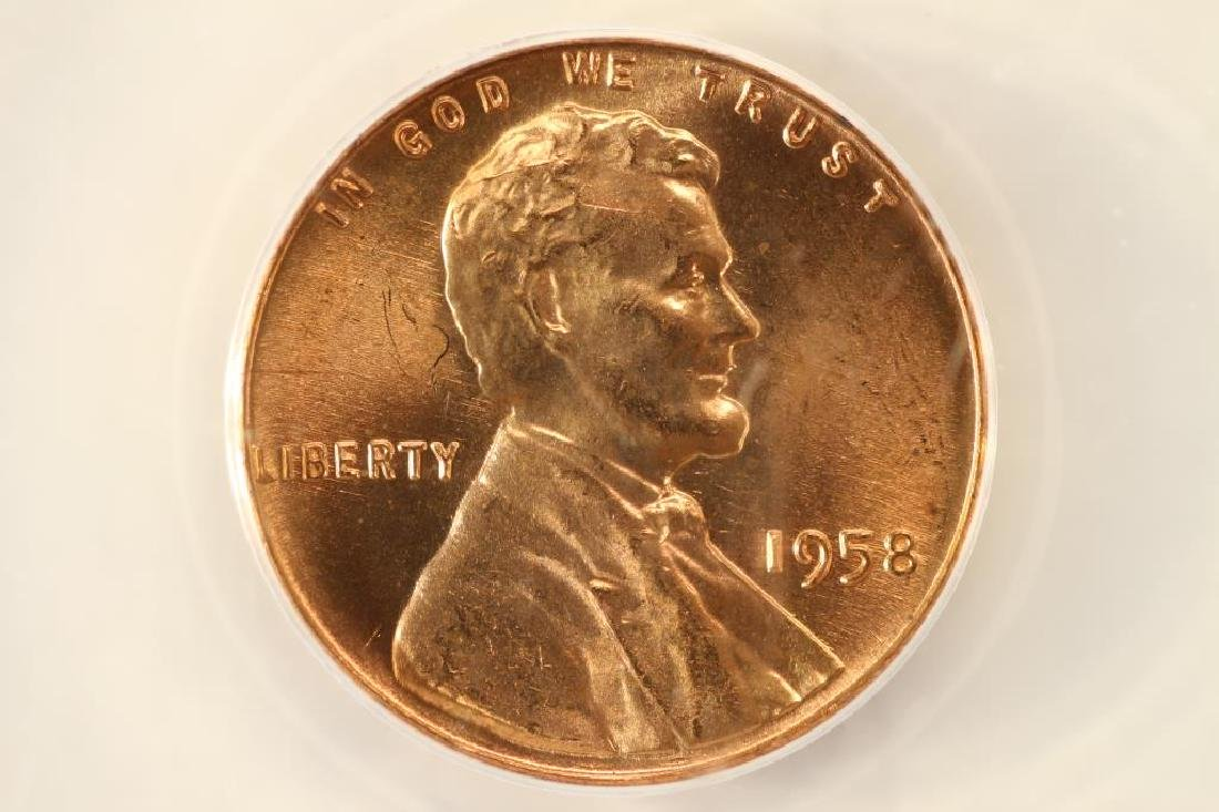 ERROR 1958 LINCOLN CENT OBV. DIE CRACKS
