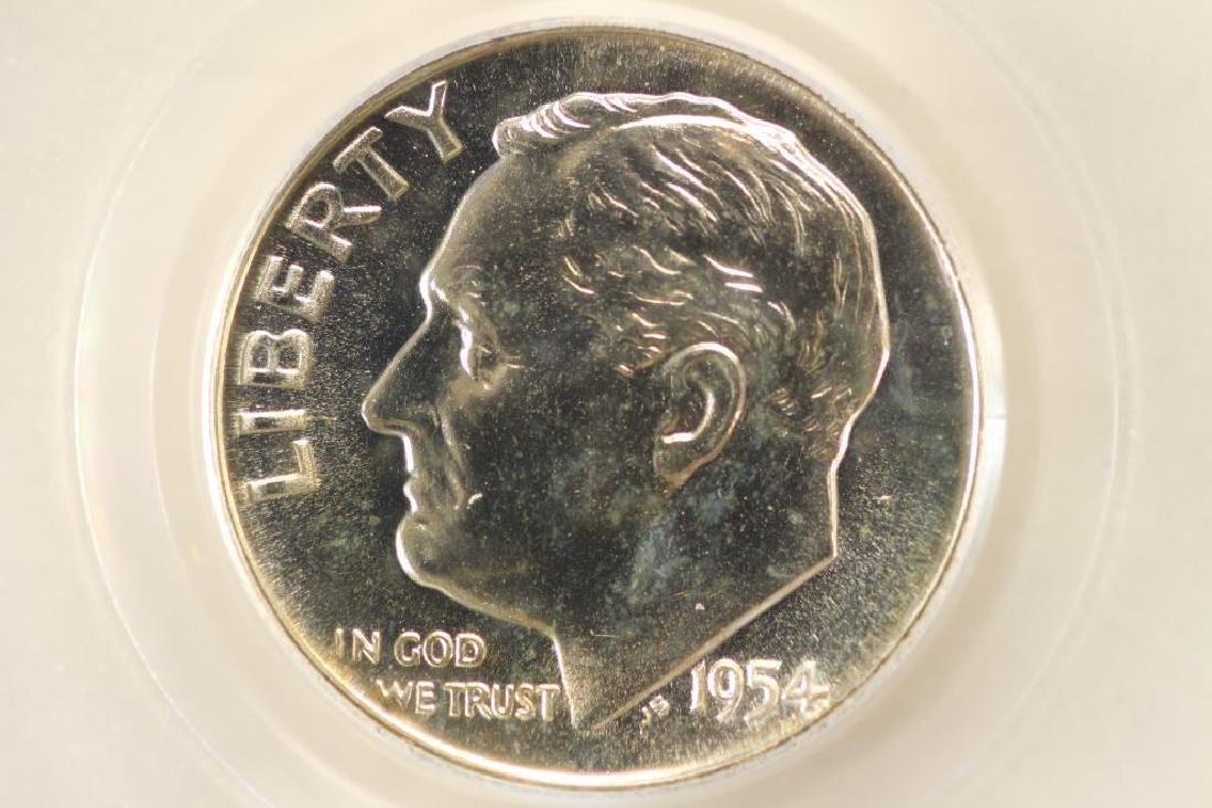 1954 SILVER ROOSEVELT DIME PCGS PR65