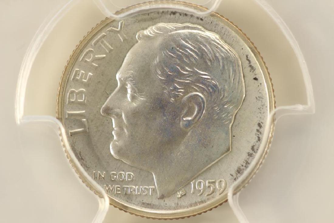 1959 SILVER ROOSEVELT DIME PCGS PR67