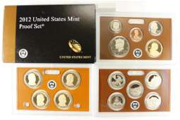 2012 US PROOF SET WITH BOX 14 PIECES