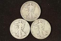 193536D  37 WALKING LIBERTY HALF DOLLARS