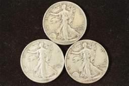 1942D43  1944 WALKING LIBERTY HALF DOLLARS