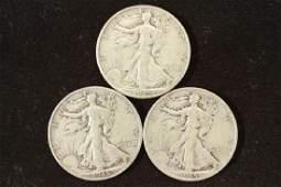 1945PDS WALKING LIBERTY HALF DOLLARS