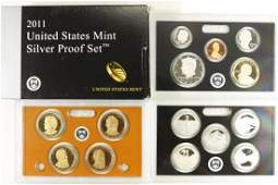 2011 SILVER US PROOF SET WITH BOX 14 PIECES