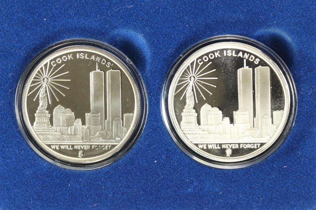 2006 COOK ISLANDS $1 FREEDOM TOWER SET CONTAINS: