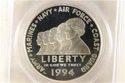 1994P WOMEN IN THE MILITARY COMMEMORATIVE SILVER