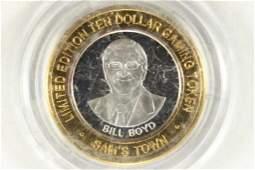 CASINO $10 SILVER TOKEN (UNC) 1979-2004 25TH