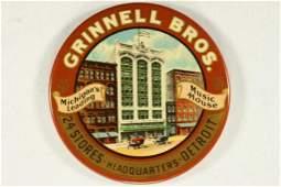 2'' VINTAGE ADVERTISING POCKET MIRROR GRINNELL