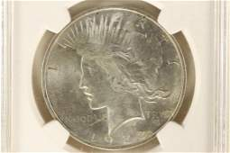 1922 PEACE SILVER DOLLAR NGC MS64