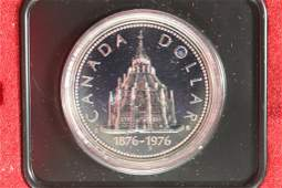 1976 CANADA PARLIAMENT LIBRARY PROOF SILVER DOLLAR