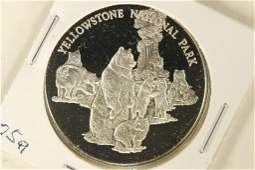 25 GRAM STERLING SILVER PROOF ROUND YELLOWSTONE
