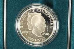 1990 EISENHOWER CENTENNIAL PROOF SILVER DOLLAR