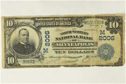 1902 $10 US NATIONAL CURRENCY MINNEAPOLIS