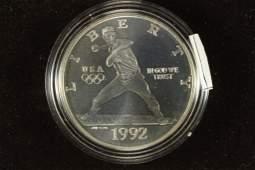1992D US OLYMPICS BASEBALL UNC SILVER DOLLAR