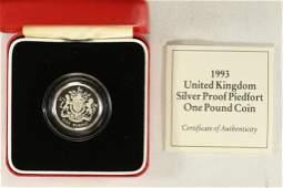 1993 UNITED KINGDOM SILVER PROOF PIEDFORT