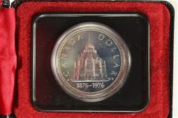 1976 LIBRARY OF PARLIAMENT CANADA PROOF SILVER