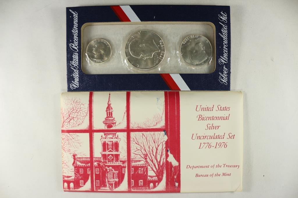 1976 US BICENTENNIAL SILVER UNC SET