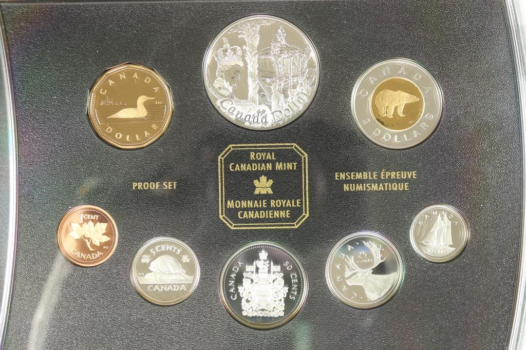 2002 CANADIAN STERLING SILVER PROOF SET ALL COINS