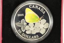 2015 CANADA $20 FINE SILVER COLORIZED PROOF COIN