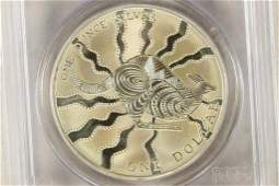 2002 AUSTRALIA KANGAROO SILVER DOLLAR PCGS MS68