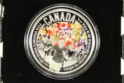 2015 CANADA FINE SILVER COLORIZED PROOF COIN