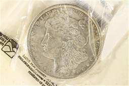 1896 MORGAN SILVER DOLLAR AU50