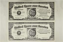 2-UNITED SPACE OVER AMERICA APOLLO 11 MOONDUST