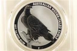 2017-P AUSTRALIA WEDGE TAILED EAGLE SILVER DOLLAR