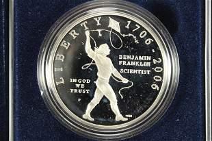 "2006 BENJAMIN FRANKLIN ""SCIENTIST"" PROOF SILVER"