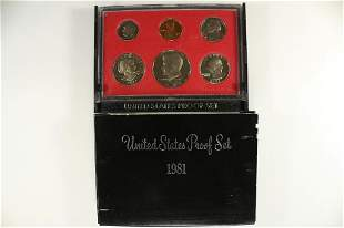 1981 US PROOF SET (WITH BOX)