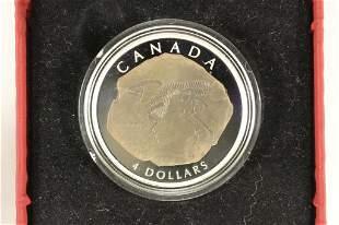 2007 CANADA $4 FINE SILVER COIN PROOF