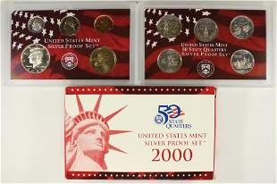 2000 US SILVER PROOF SET (WITH BOX)