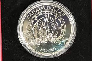 2013 CANADA BRILLIANT UNC SILVER DOLLAR