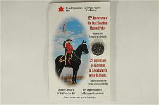125TH ANNIVERSARY OF THE ROYAL CANADIAN MOUNTED